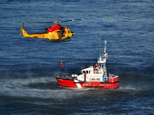 Rescue exercise of the Air Force and Coast Guard of Canada