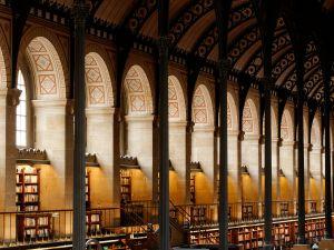 Reading room of the Library Saint-Genevieve, Paris