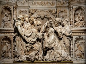 Bas-relief in the Chapel of the Descent of the Virgin (Toledo, Spain)