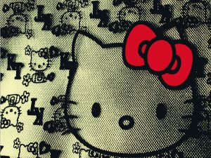 Hello Kitty with a red bow