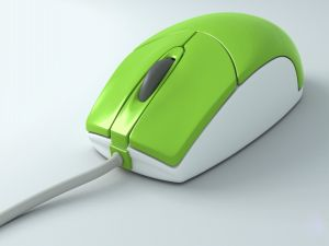 Green and white mouse