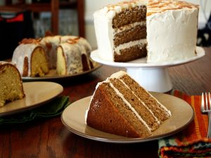 Carrot cake and bundt cake