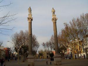 Alameda de Hércules, in Seville, Spain