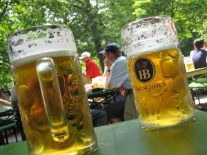 Beers in the Beer Garden (Munich, Germany)