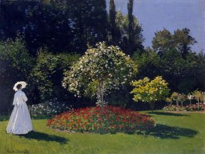 """Woman in the Garden"" by Claude Monet"