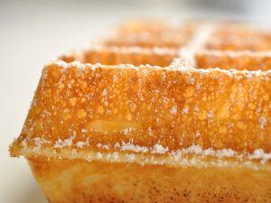 Closeup of a waffle
