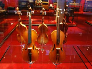 Violins at the Music Museum in Barcelona