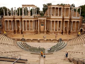 Roman theater in Mérida (Badajoz, Spain)
