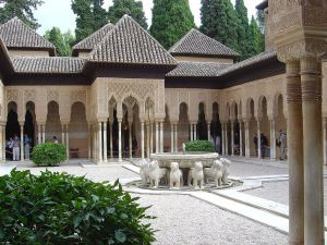 Court of the Lions, at the Alhambra in Granada (Spain)