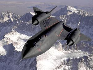 Lockheed SR-71, in the mountains of Sierra Nevada