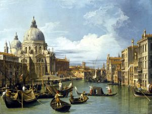 The Grand Canal and the Church of the Salute, by Canaletto (1730)