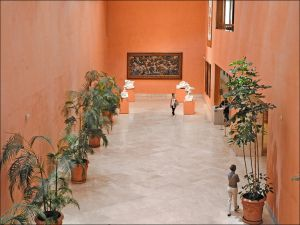 Lobby to the Thyssen-Bornemisza Museum in Madrid (Spain)
