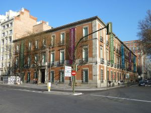 Exterior view of the Villahermosa Palace of Madrid (Spain)