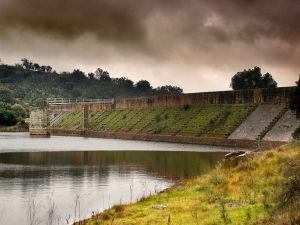 View of the Cornalvo Roman dam