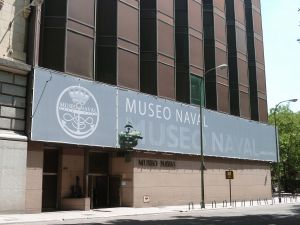 Facade of the Naval Museum of Madrid (Spain)