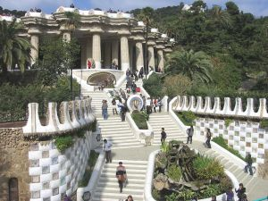 Entrance to Park Guell (Barcelona, Spain)