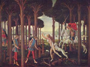 Nastagio degli Onesti, first episode (Museo del Prado)