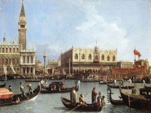 The Return of the Bucentaur to the Molo on Ascension Day, Canaletto (1730)
