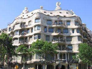 Facade of the Casa Mila (Barcelona)