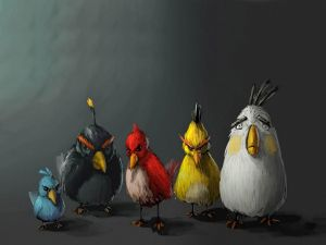 Funny characters of Angry Birds