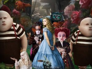 Alice in Wonderland, a film by Tim Burton