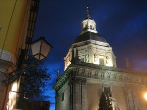Night view of the Chapel of San Isidro (Spain)