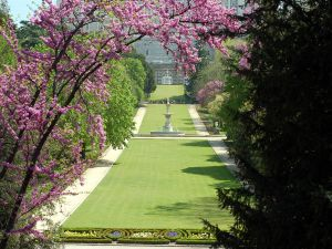 Campo del Moro, gardens beside the Royal Palace of Madrid (Spain)