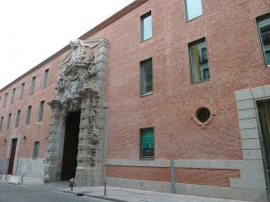 "Southeastern facade of the ""Cuartel del Conde Duque"" in Madrid (Spain)"