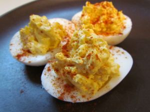 Eggs with paprika