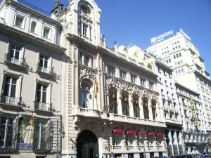 The building of the Casino de Madrid (Spain)