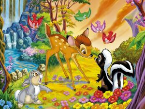 Bambi and animals of the forest