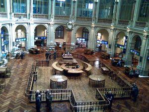 Interior of the Madrid Stock Exchange