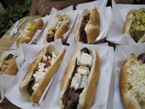 A selection of hot dogs