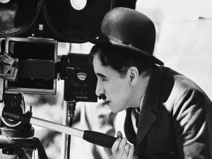 Charles Chaplin behind the camera