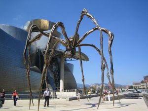 """Maman"", sculpture by Louise Bourgeois (Guggenheim Museum Bilbao, Spain)"