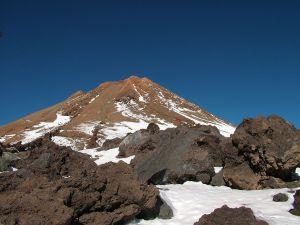 Peak of Teide in winter