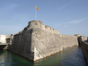 Royal Walls and moat of San Felipe (Ceuta, Spain)