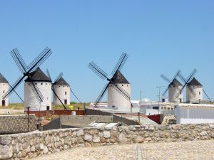 Windmills in Campo de Criptana (Spain)