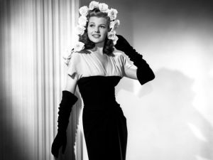 The actress Rita Hayworth