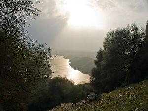 Tajo River passing through to Monfragüe National Park (Spain)