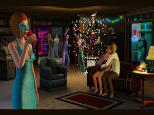 The Sims 3, in a party