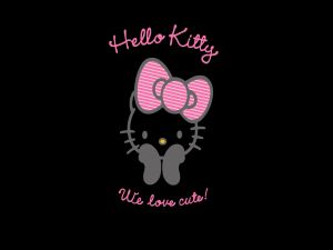 Hello Kitty with a pink bow