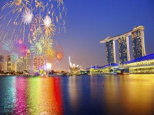 Fireworks in Singapore