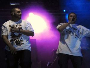 Falsalarma, a rap group from Barcelona