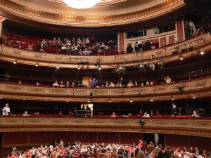 Interior of the Teatro de la Zarzuela, Madrid