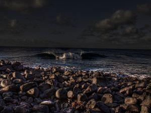 Dark wave sea