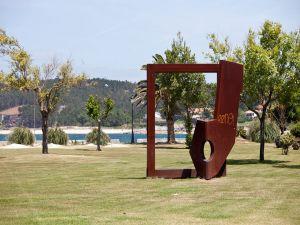 Sculpture in Porto do Son, Galicia (Spain)