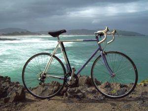 Bike next to the sea