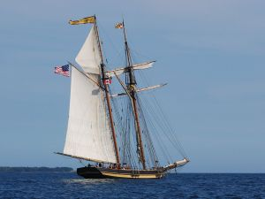 The sailing ship Pride of Baltimore (Nova Scotia, Canada)