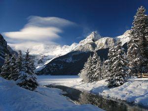 Victoria Glacier, in Lake Louise, Canada